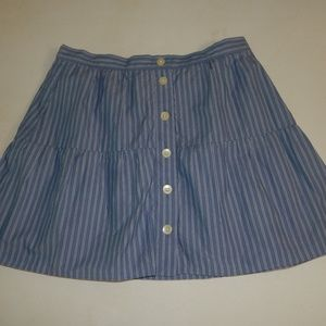 Madewell Size S Blue and White Striped Skirt EUC